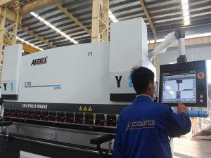 کنترل لمسی کنترل cnc مطبوعات دستگاه ترمز 6 محور 220T 4000MM موتور موتور زیمنس