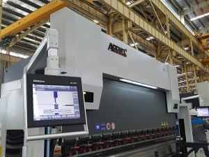 Delem DA52 هیدرولیک خم کن، موقعیت دقیق قیمت افقی فشار ترمز، cnc زاویه آهن