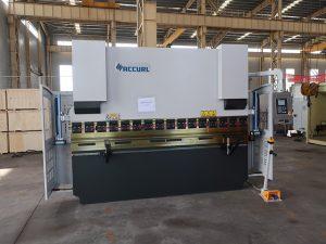 ESTUN E21 به طور گسترده صادر شده WC67K 160T / 3200 فولاد صفحه خم دستگاه مطبوعات ترمز قیمت 3 متر دستگاه خم